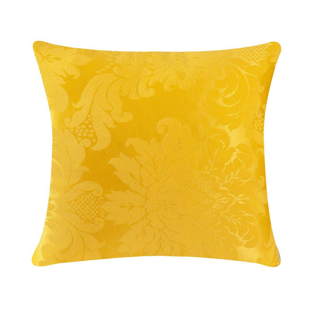 Capa de Almofada Jacquard Avulsa Amarelo 42cm x 42cm