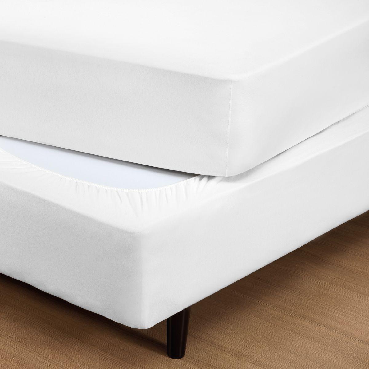 Capa p/ Box Fit Box Branco King - Malha 100% Algodão