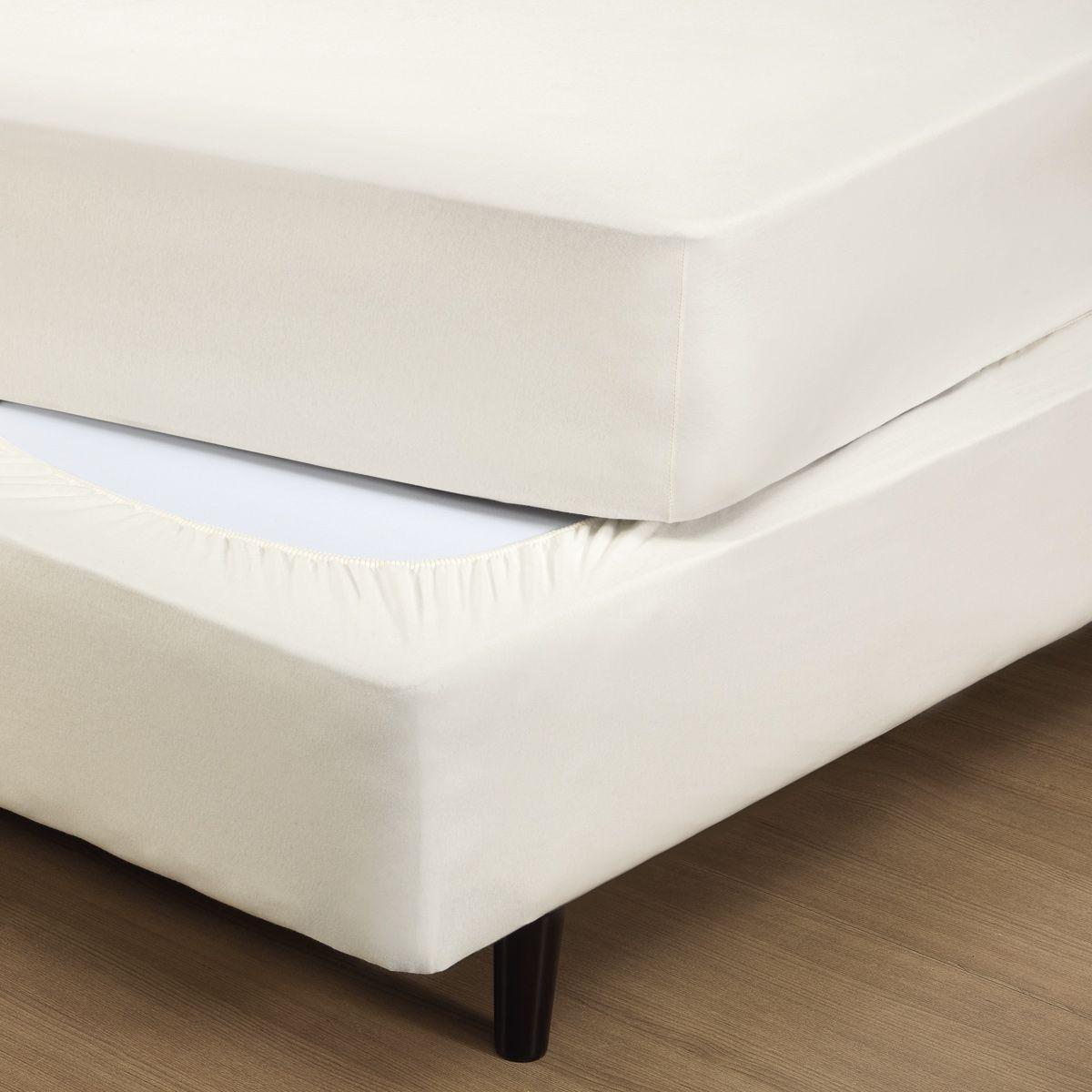Capa p/ Box Fit Box Pérola Queen - Malha 100% Algodão