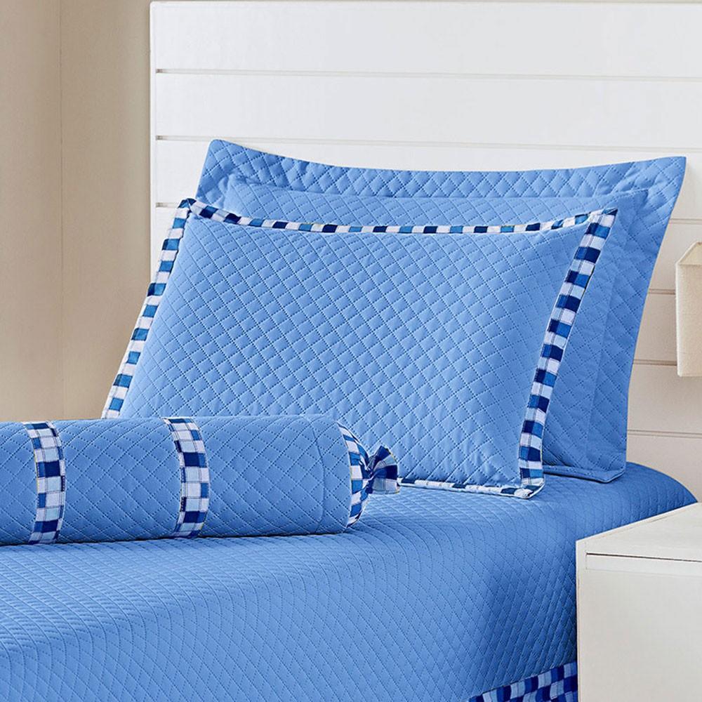 Cobre Leito Thierry Azul Solteiro