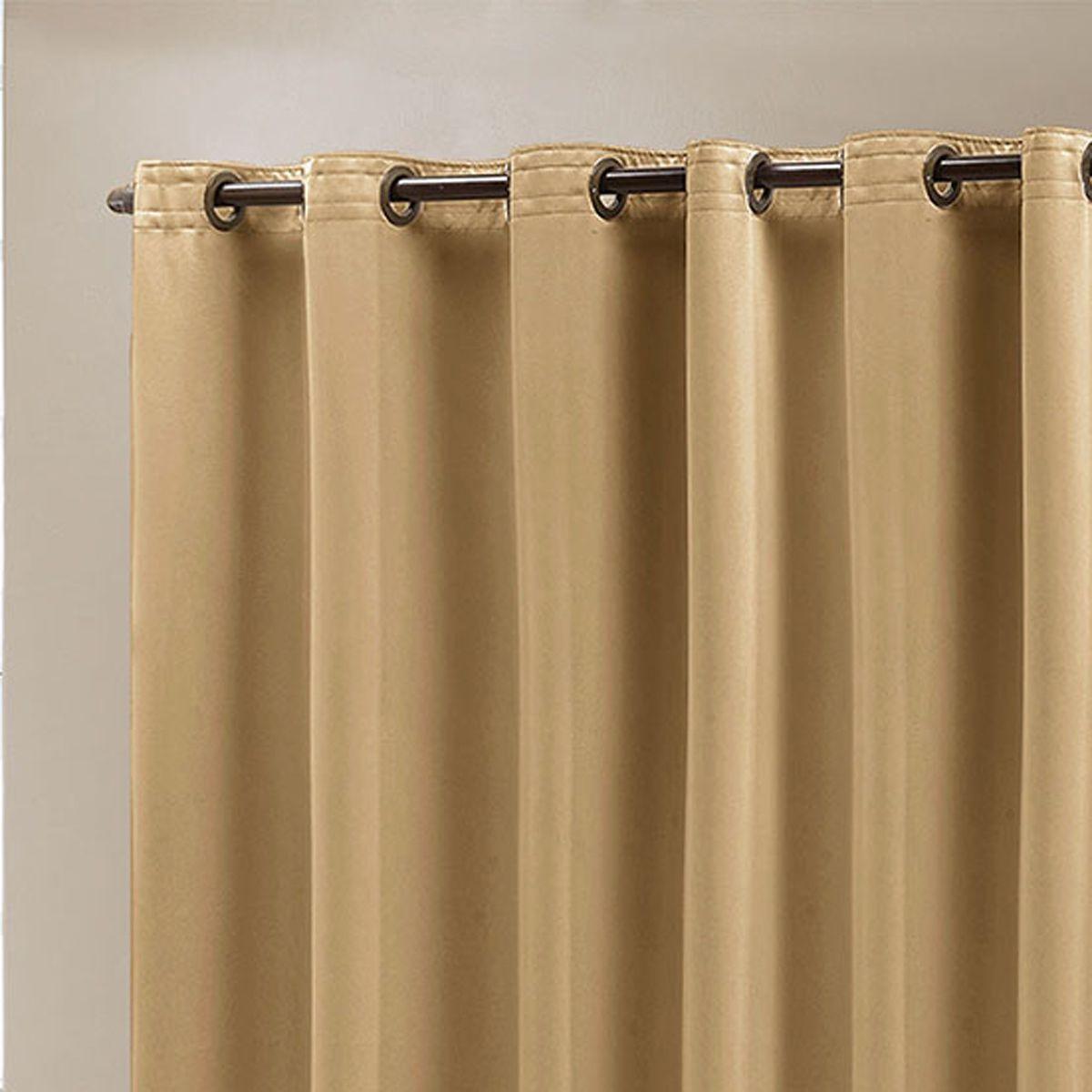 Cortina Blackout em Tecido Class Dourado Corta Luz 4,00m x 2,70m
