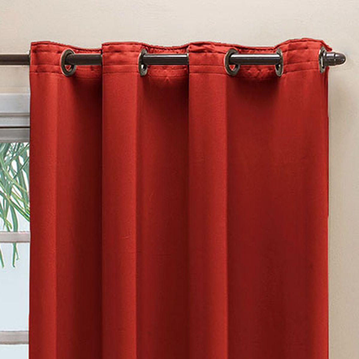 Cortina Blackout em Tecido Class Vermelho Corta Luz 2,80m x 1,60m