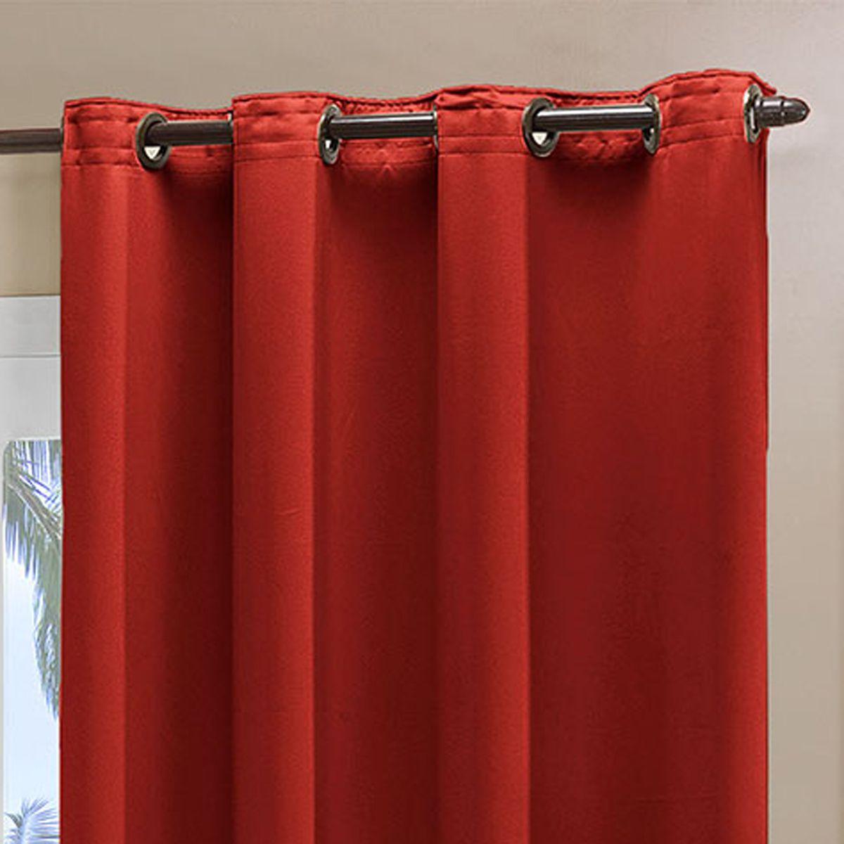 Cortina Blackout em Tecido Class Vermelho Corta Luz 2,80m x 2,30m