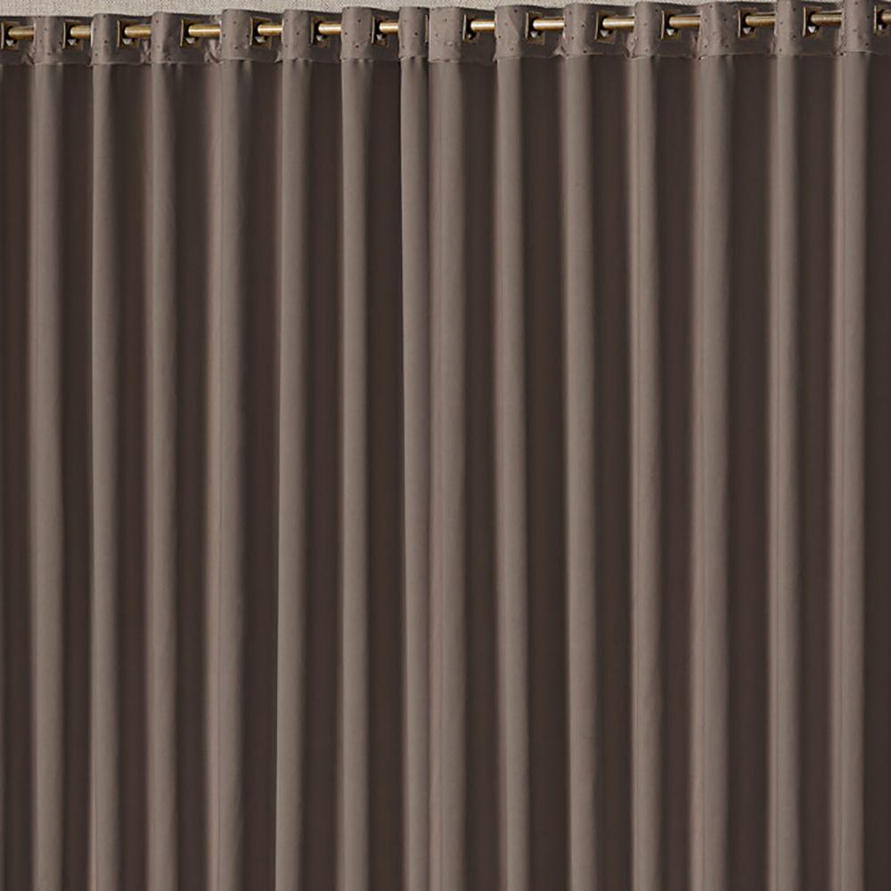Cortina Blackout Ester Tabaco 4,00M X 2,70M