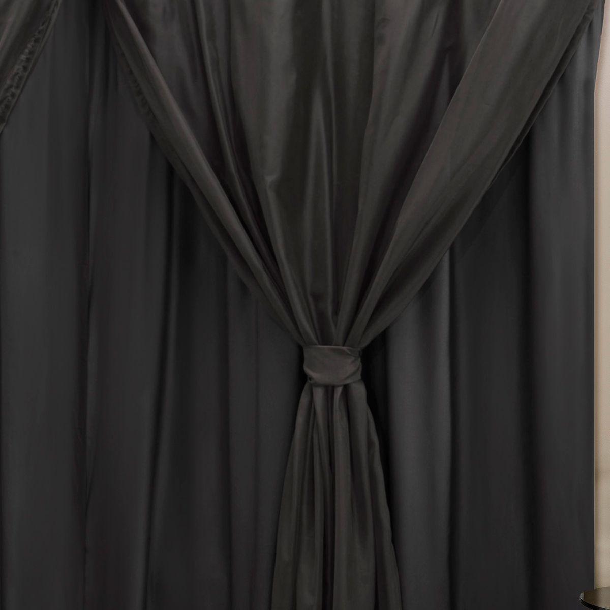 Cortina Blackout PVC c/ Voil Preto Corta Luz 4,20m X 2,50m
