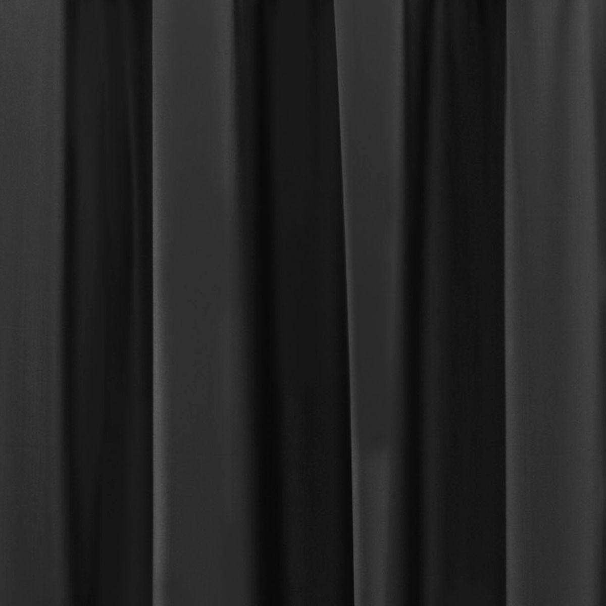 Cortina Blackout PVC Preto Corta Luz 2,20m X 1,30m