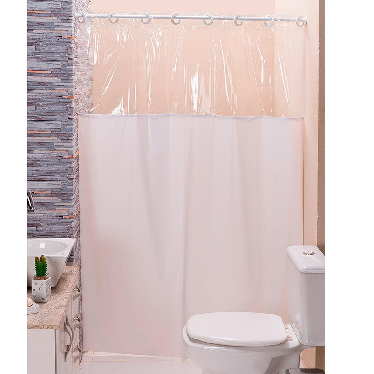 Cortina p/ Box de Banheiro Branco 1,40m X 1,98m