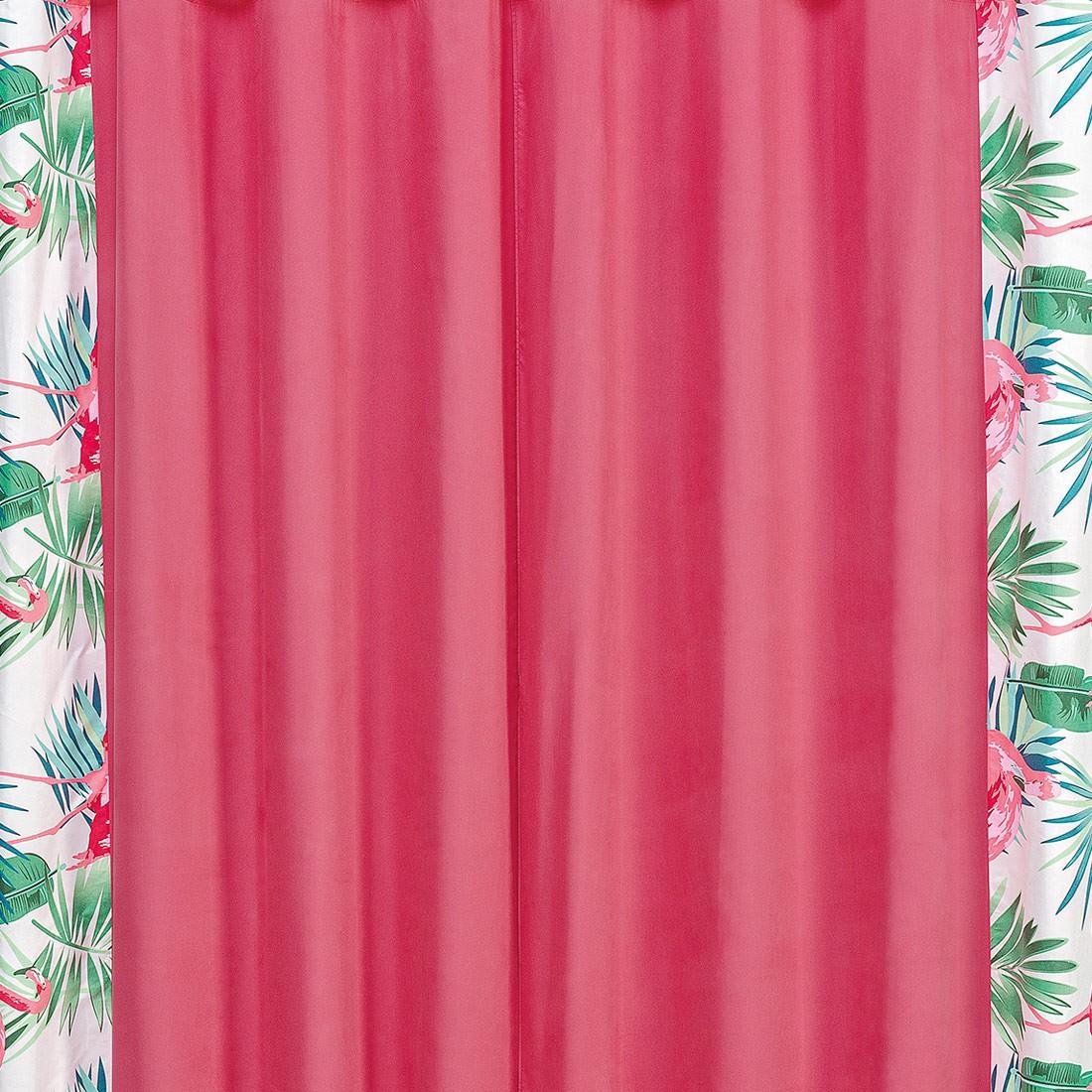 Cortina Forest Flamingo 2,00m x 1,70m p/ Varão Simples