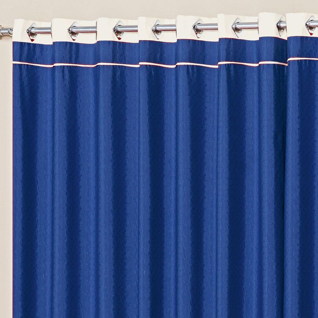 Cortina Marina Azul 3,00m x 2,50m p/ Varão Simples