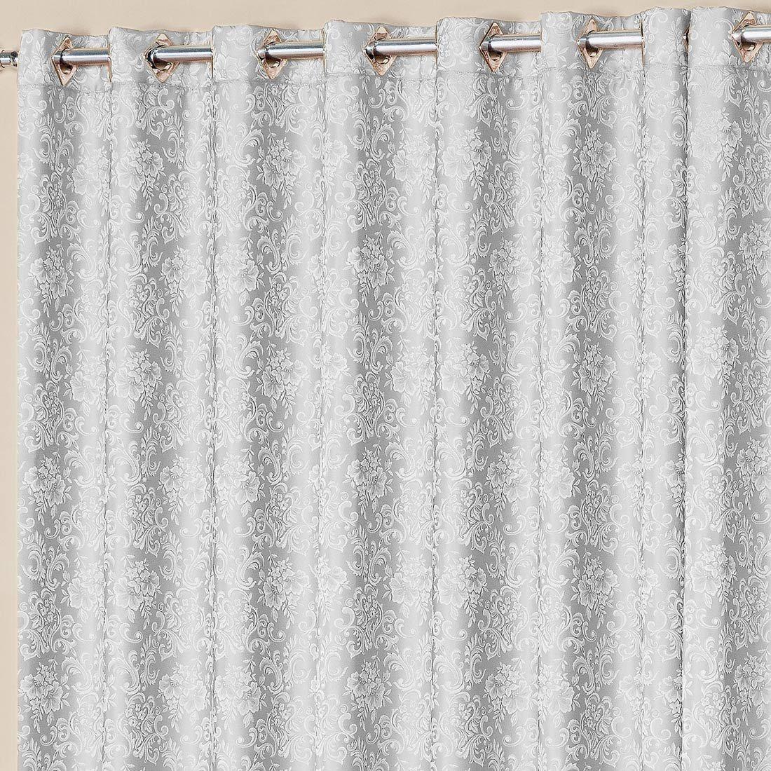 Cortina Nobre Jacquard Prata 2,00m x 1,70m p/ Varão Simples