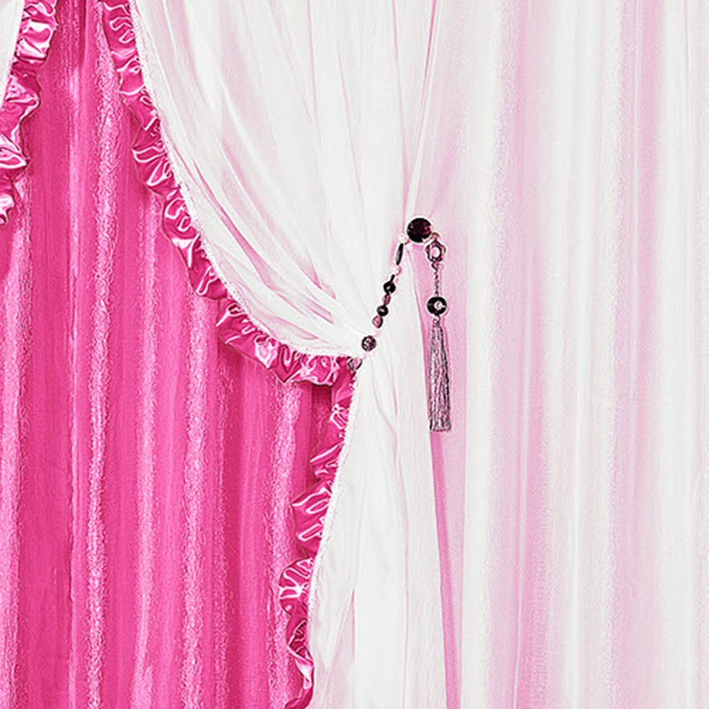 Cortina Romântica Pink 3,00M X 2,50M