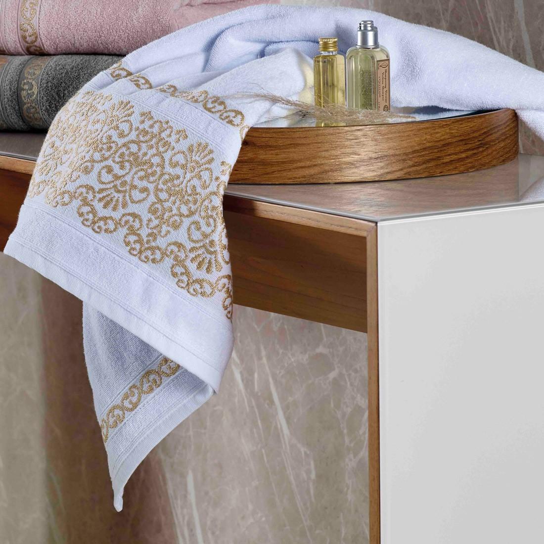 Jogo de Banho Esplendor Branco 470 g/m² 100% Algodão 05 Peças