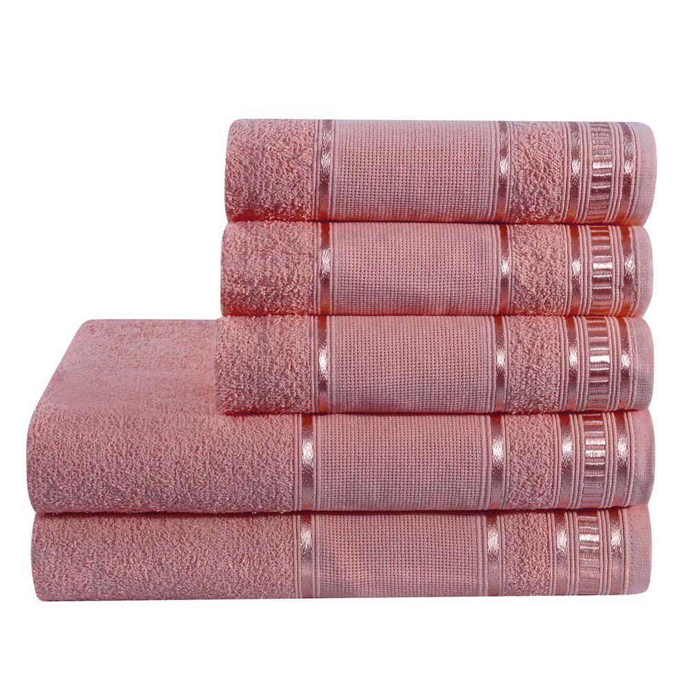 Jogo de Banho Premium Rubine 285 g/m² 100% Algodão 05 Peças