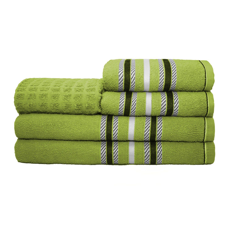 Jogo de Banho Stella Verde Felpa 100% Algodão 280 g/m² - 05 Peças