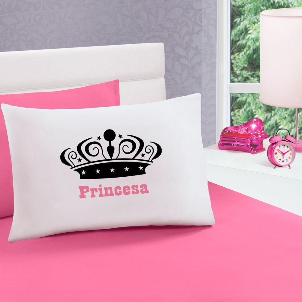 Jogo de Cama Malha Princesa Pink Solteiro 100% Algodão 02 Peças