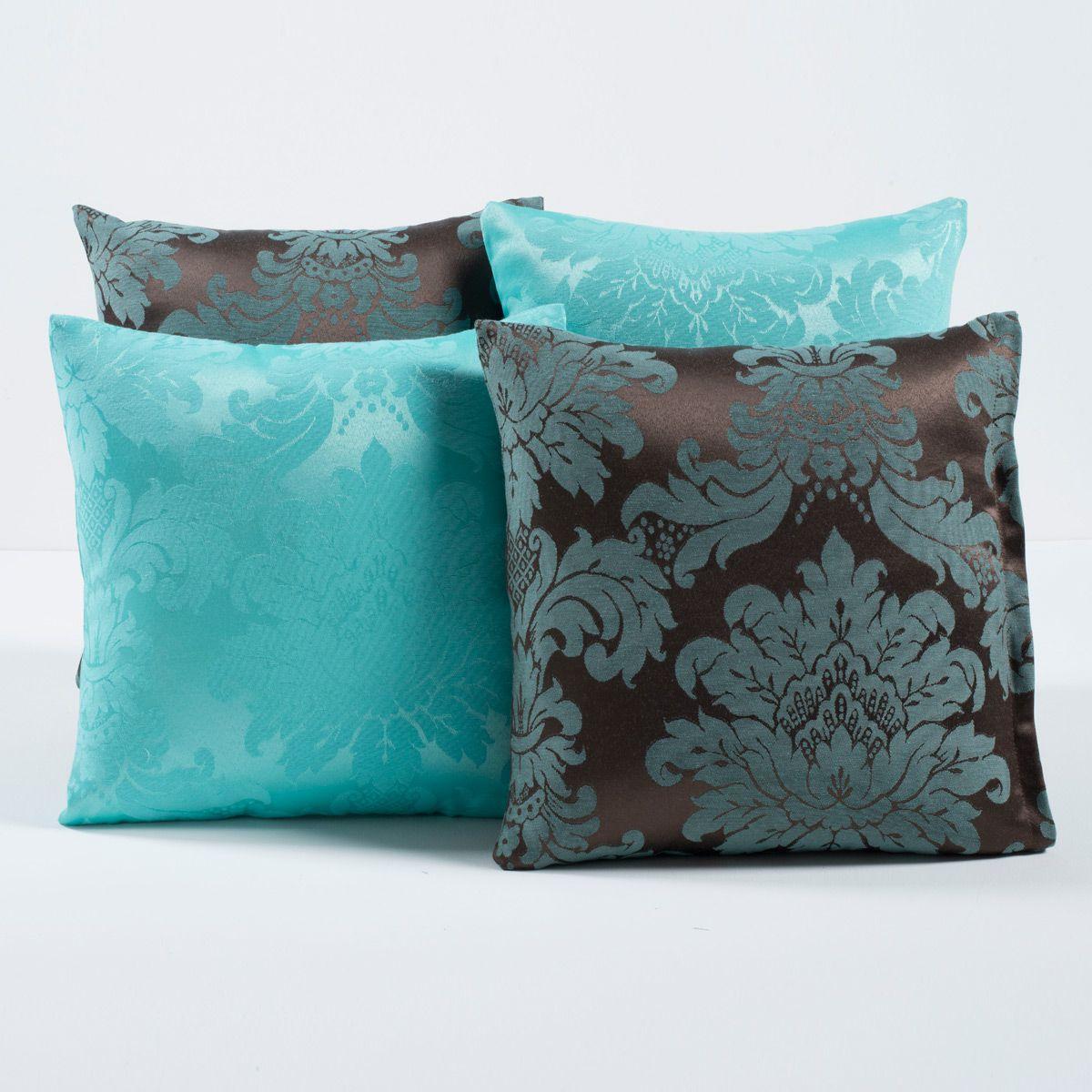 Kit c/ 4 Almofadas Cheias Decorativas Tiffany/Tabaco 04 Peças c/ Refil