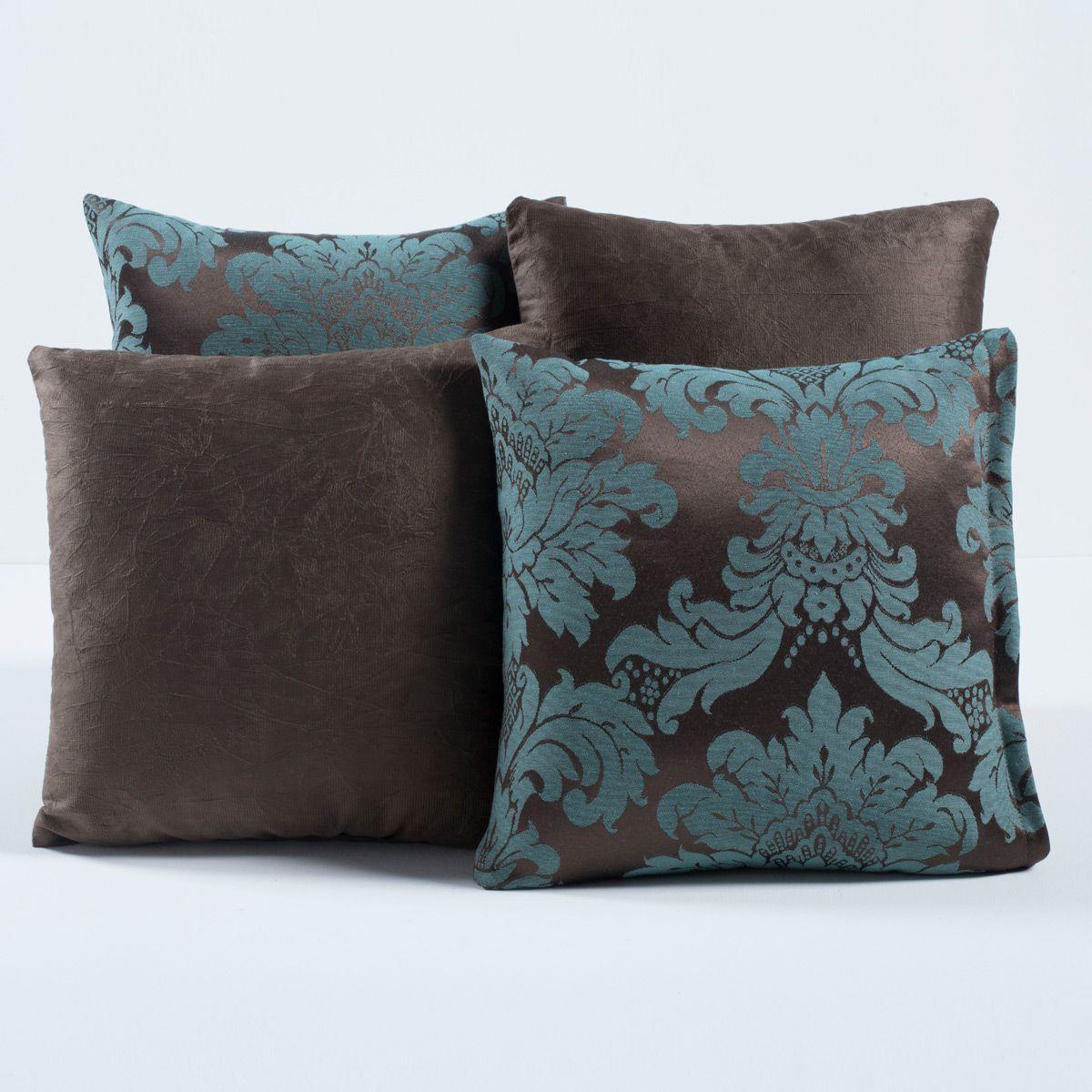 Kit Capas de Almofadas Decorativas Floral Tabaco/Tiffany 04 Peças