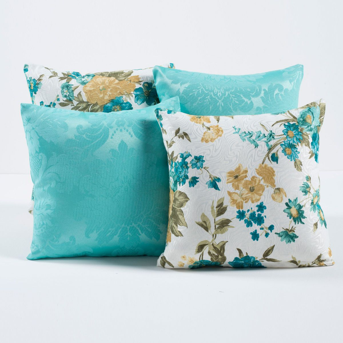 Kit Capas de Almofadas Decorativas Tiffany Floral 04 Peças