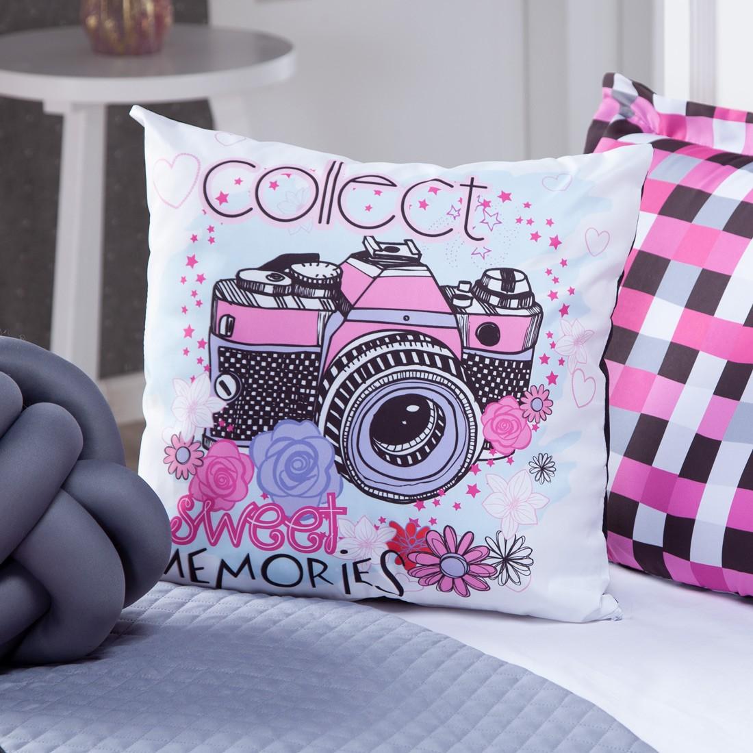 Kit Cobre Leito Memories Dupla Face c/ Almofadas Solteiro 05 Peças