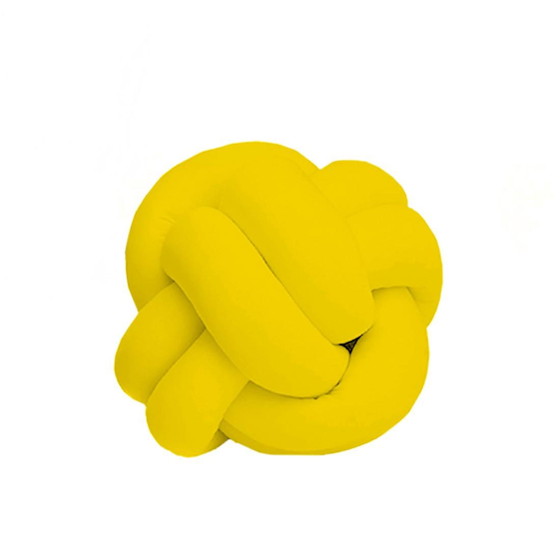Kit de Almofadas Cheias c/ Nó Tie Dye Amarelo 03 Peças