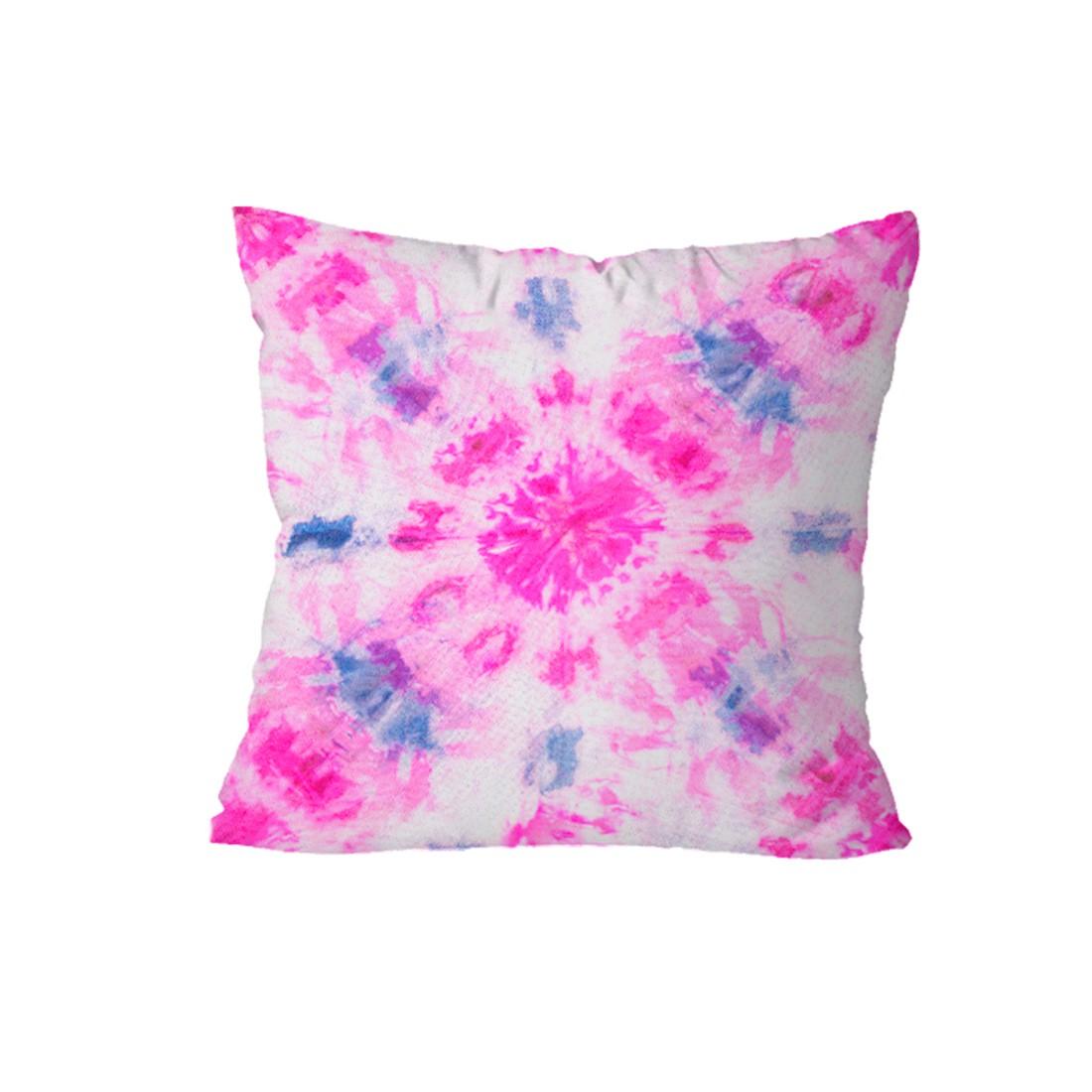 Kit de Almofadas Cheias c/ Nó Tie Dye Pink 03 Peças