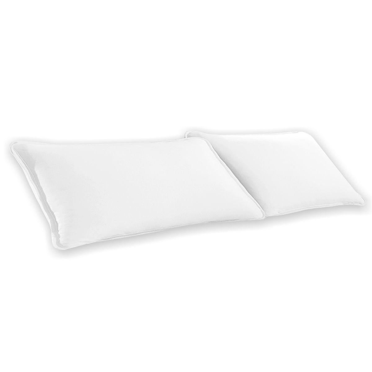 Par de Fronhas Branco Lisa em Malha 100% Algodão 120g/m2