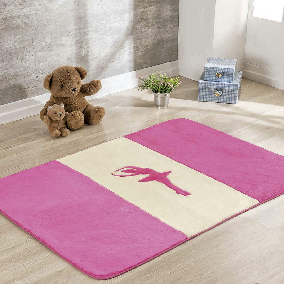 Passadeira Infantil Premium Bailarina Pink 1,20m x 74cm