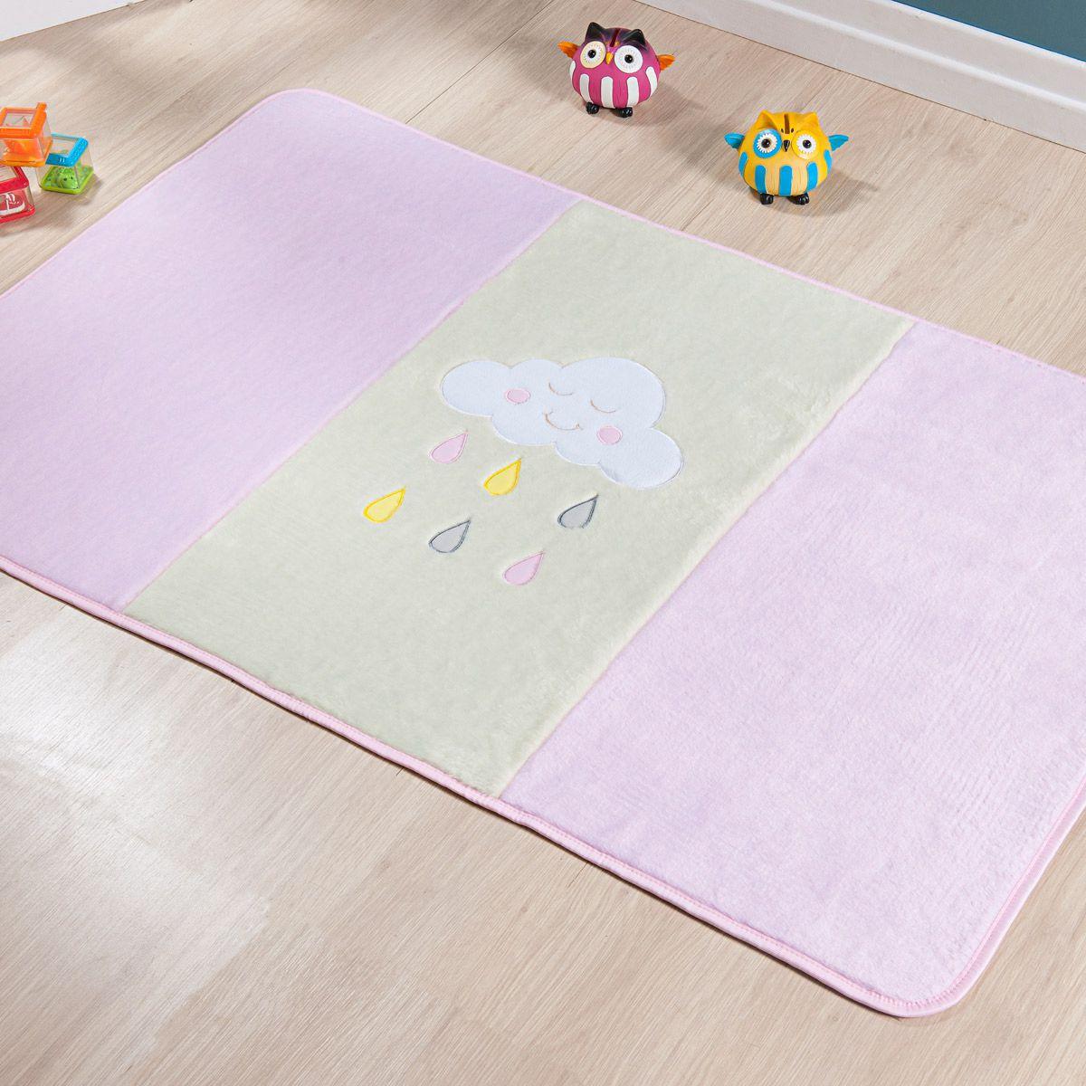 Passadeira Infantil Premium Chuva de Benção Rosa 1,20m x 74cm