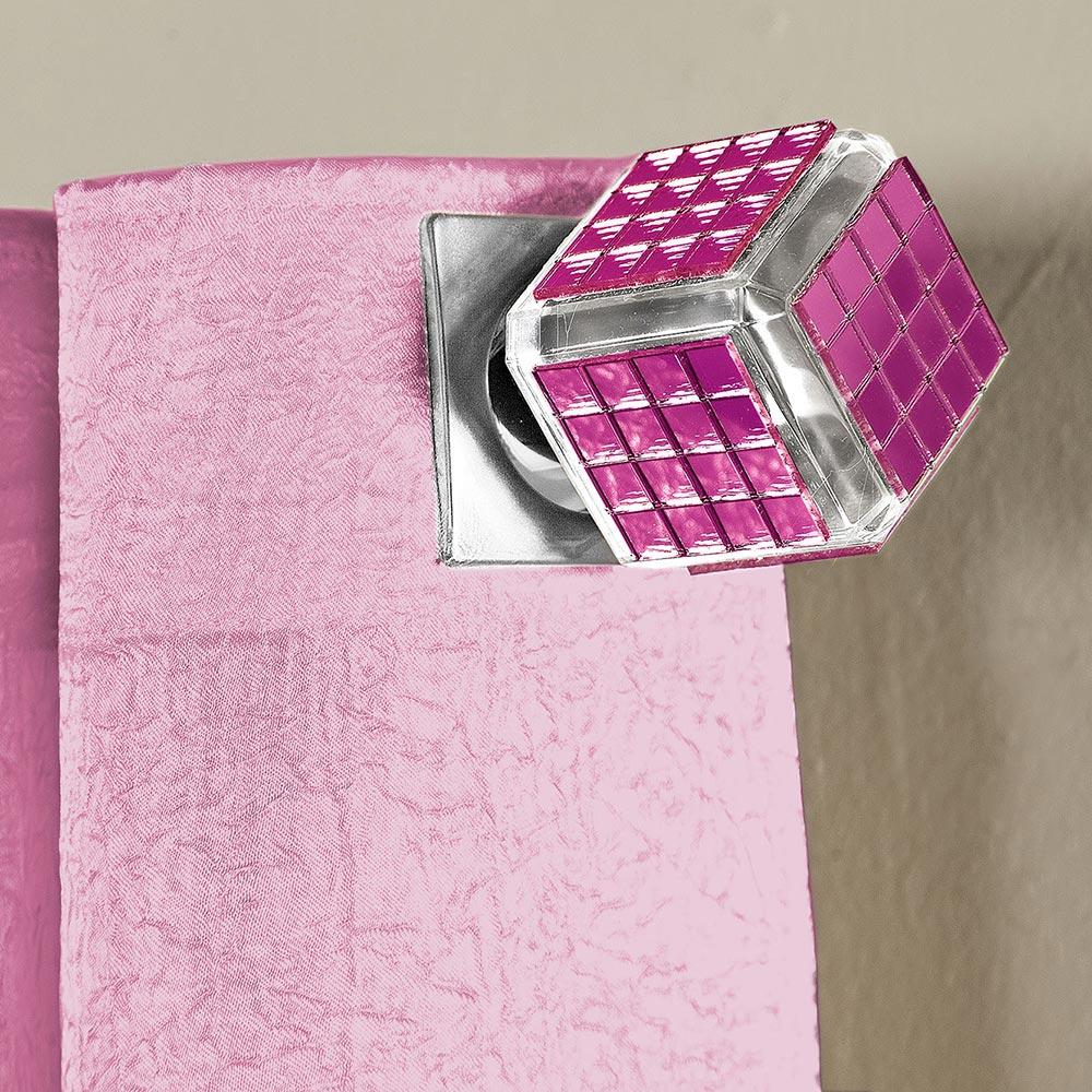 Ponteira P/ Varão Espelho Pink 19Mm