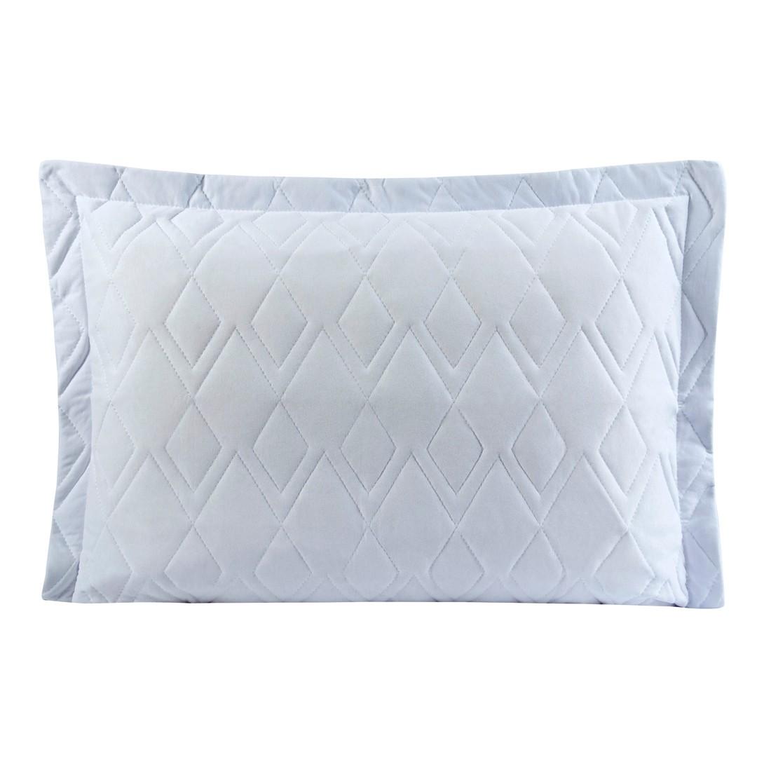 Porta Travesseiro Avulso Branco em Malha 100% Algodão 150g/m2