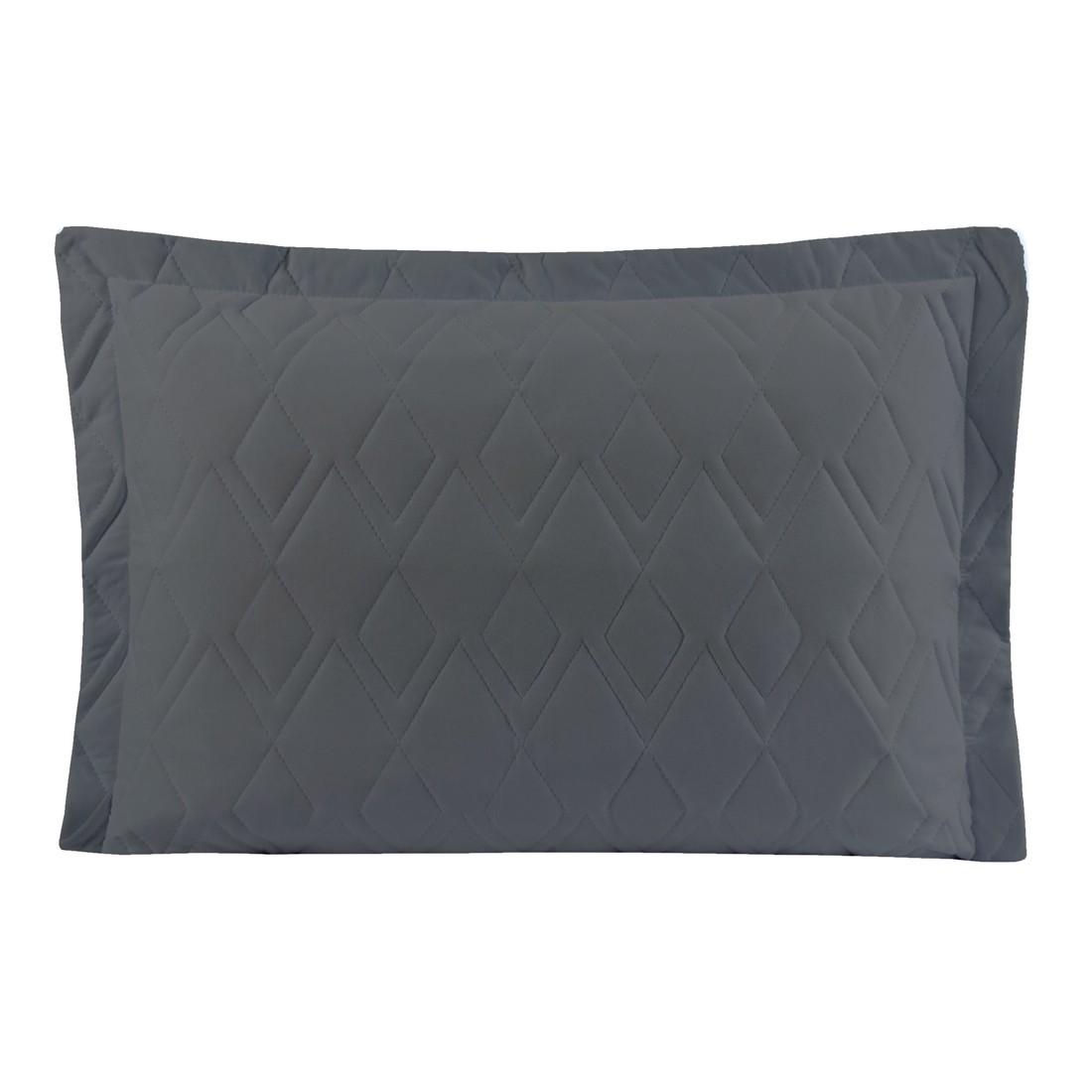 Porta Travesseiro Avulso Chumbo em Malha 100% Algodão 150g/m2