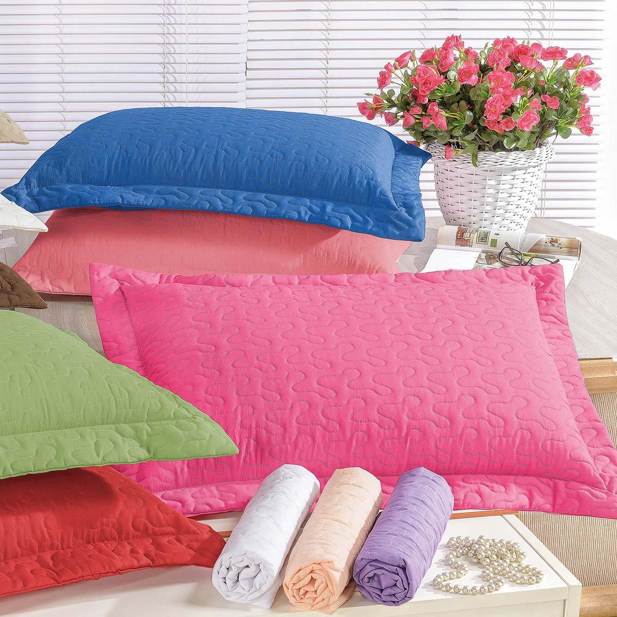 Porta Travesseiro Avulso Pink Percal 180 Fios 01 Peça