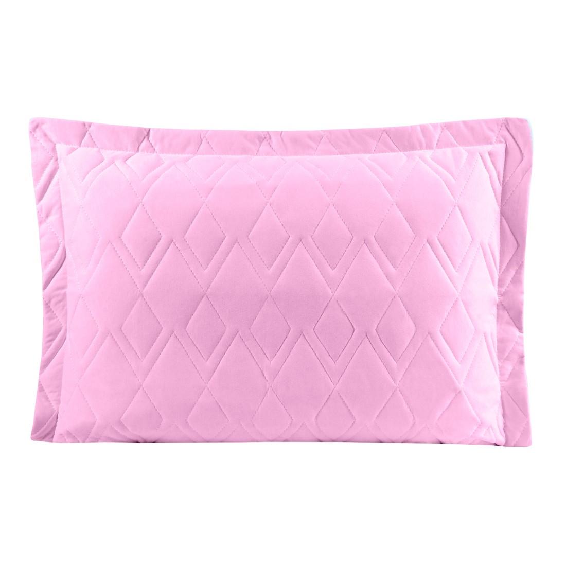 Porta Travesseiro Avulso Rosa Amora em Malha 100% Algodão 150g/m2