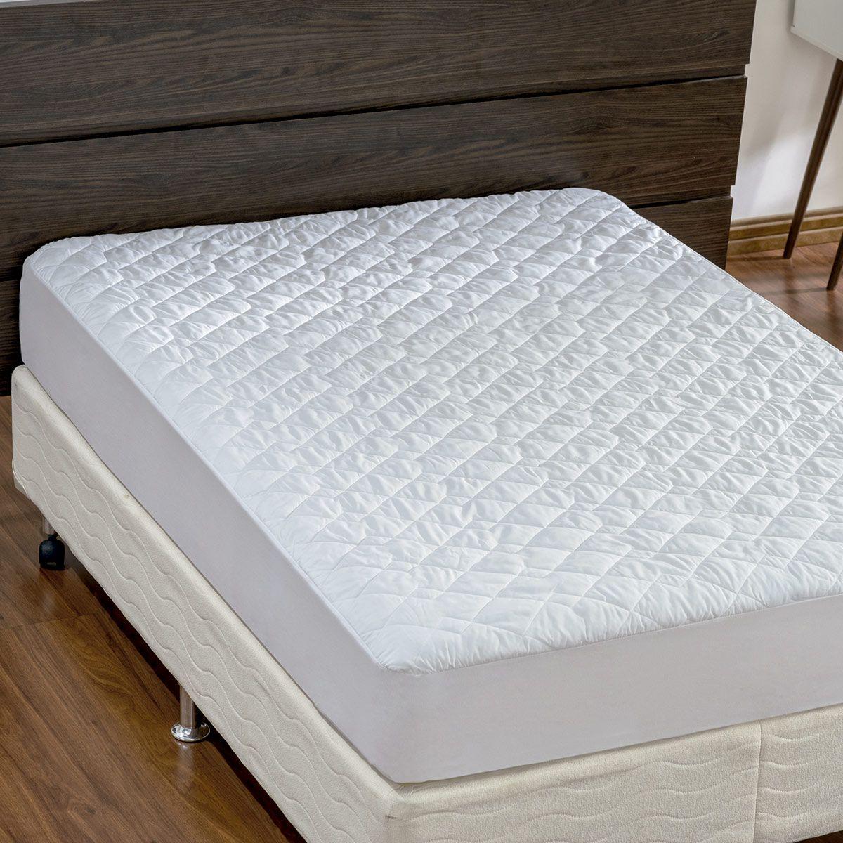 Protetor de Colchão Protect Impermeável Branco Casal Microfibra