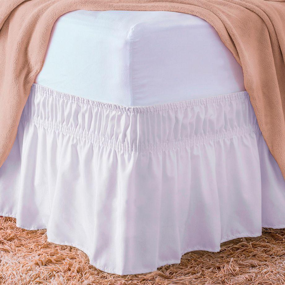 Saia Para Cama Box Standard Branco Casal Padrão
