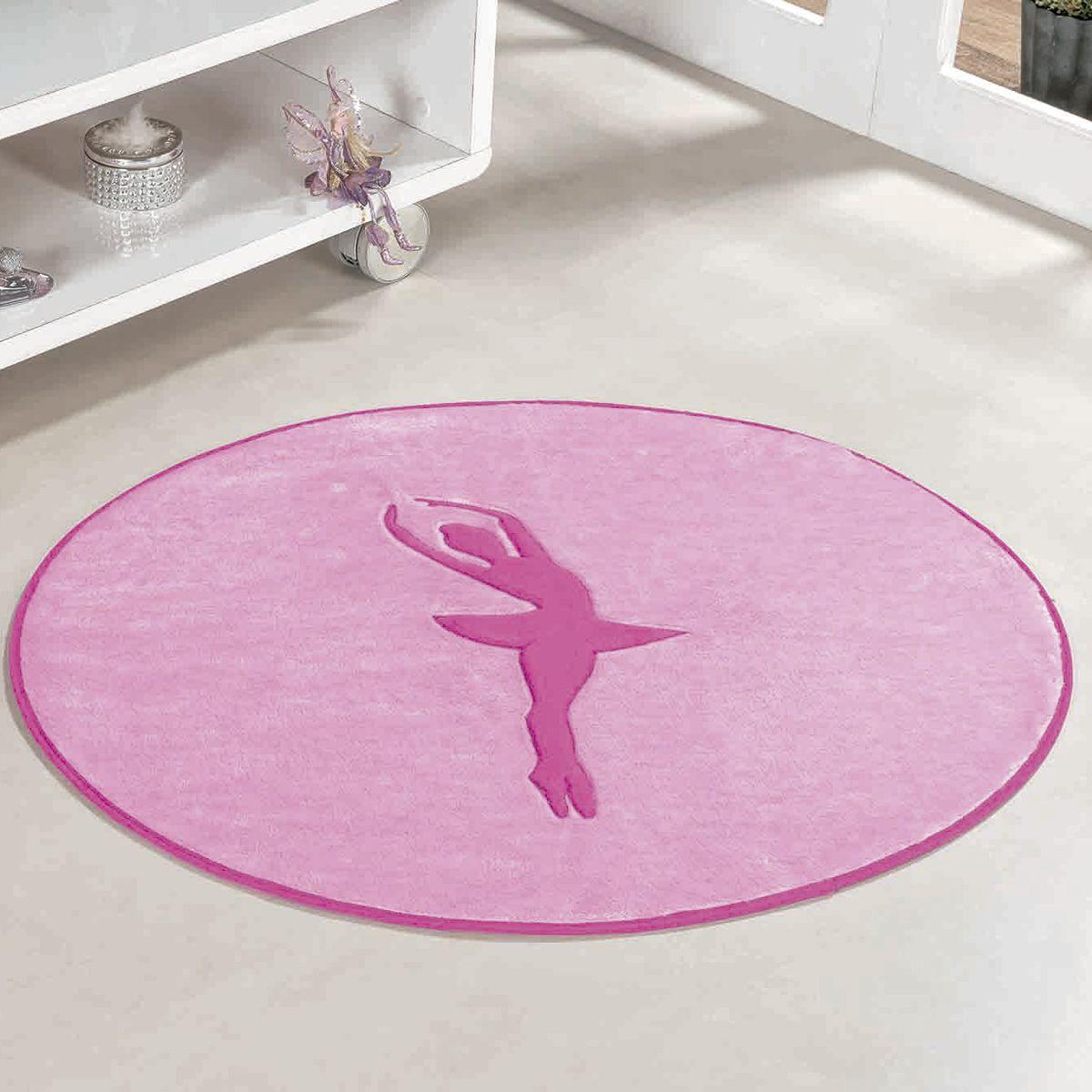 Tapete Big Infantil Premium Formato Bailarina Rosa 1,10m x 0,95m