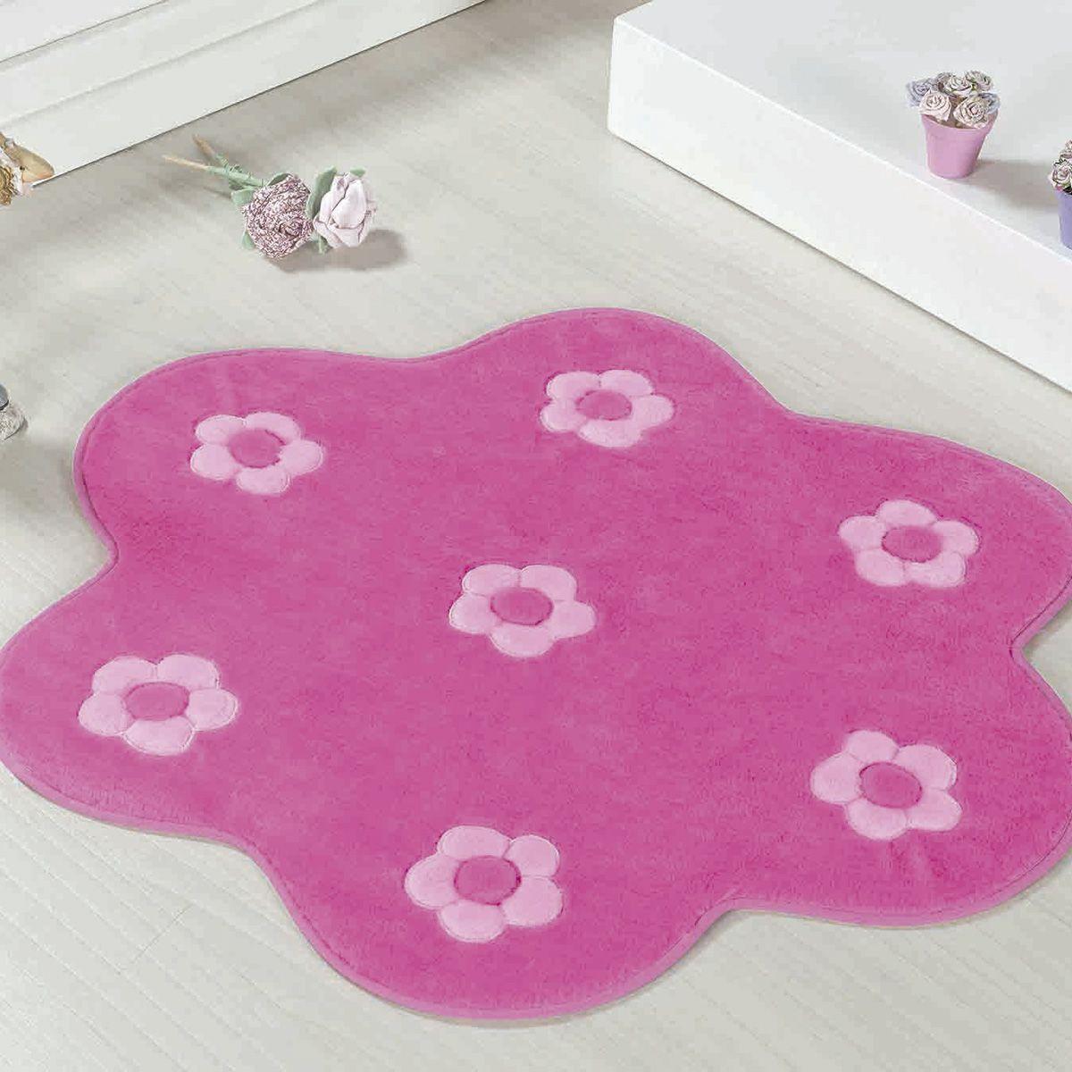 Tapete Big Infantil Premium Formato Jardim Pink 1,12m x 1,12m