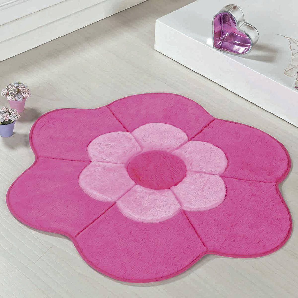 Tapete Big Infantil Premium Formato Margarida Dupla Pink 1,12m x 1,12m