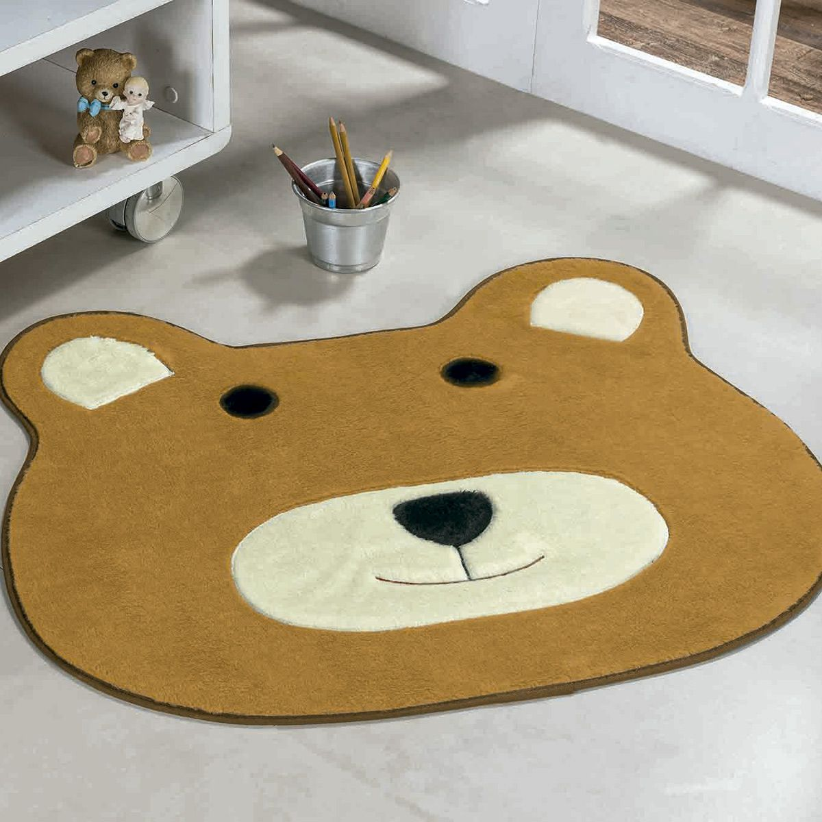 Tapete Big Infantil Premium Formato Urso Caramelo 1,16m x 1,00m