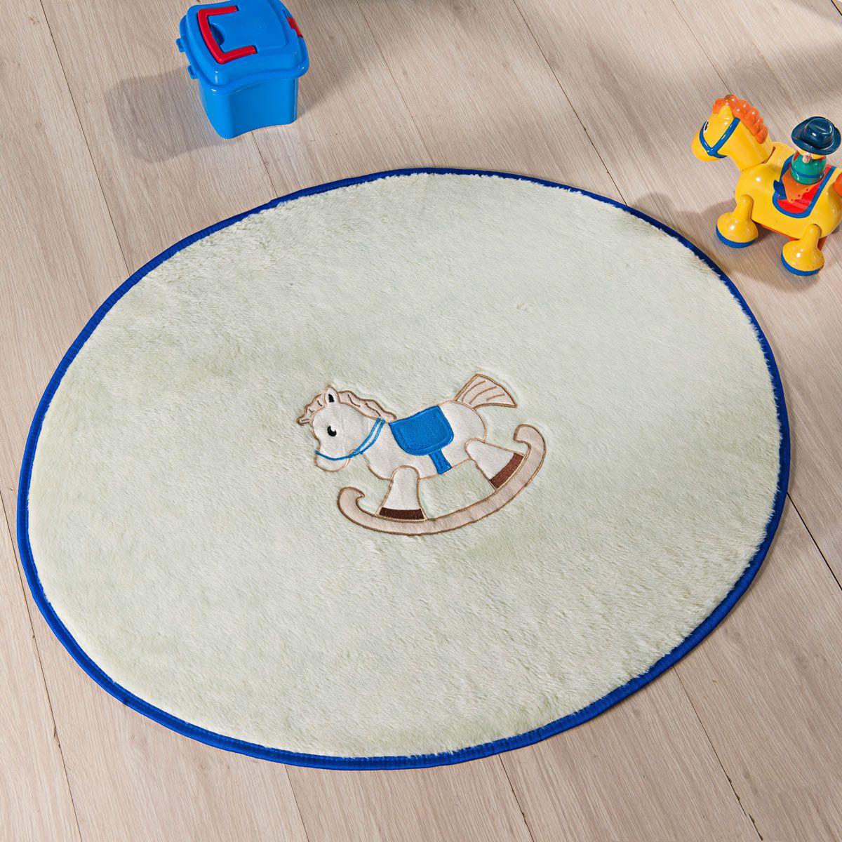 Tapete Infantil Premium Baby Formato Cavalinho Palha 78cm x 68cm