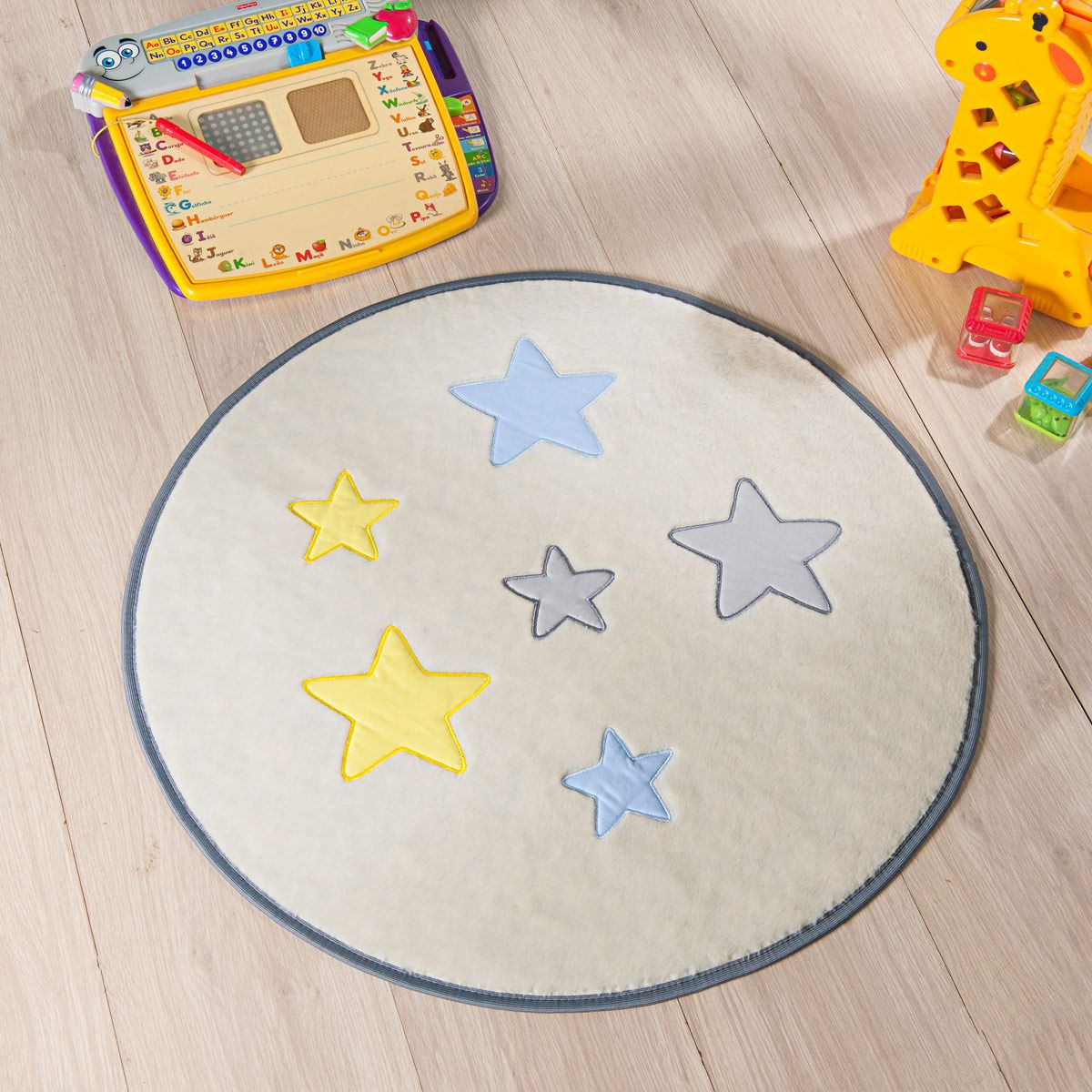 Tapete Infantil Premium Baby Formato Estrela Palha 65cm ø