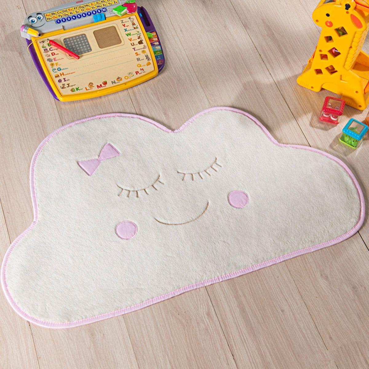 Tapete Infantil Premium Baby Formato Nuvem Rosa 82cm x 52cm