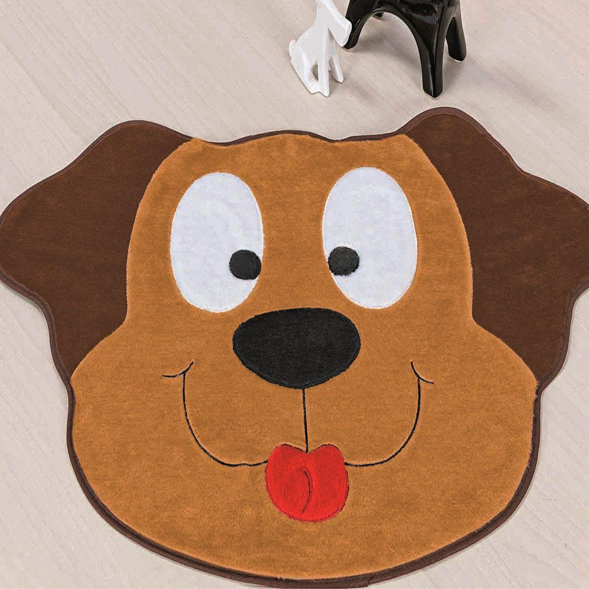 Tapete Infantil Premium Formato Cachorro Feliz Caramelo 78cm x 55cm