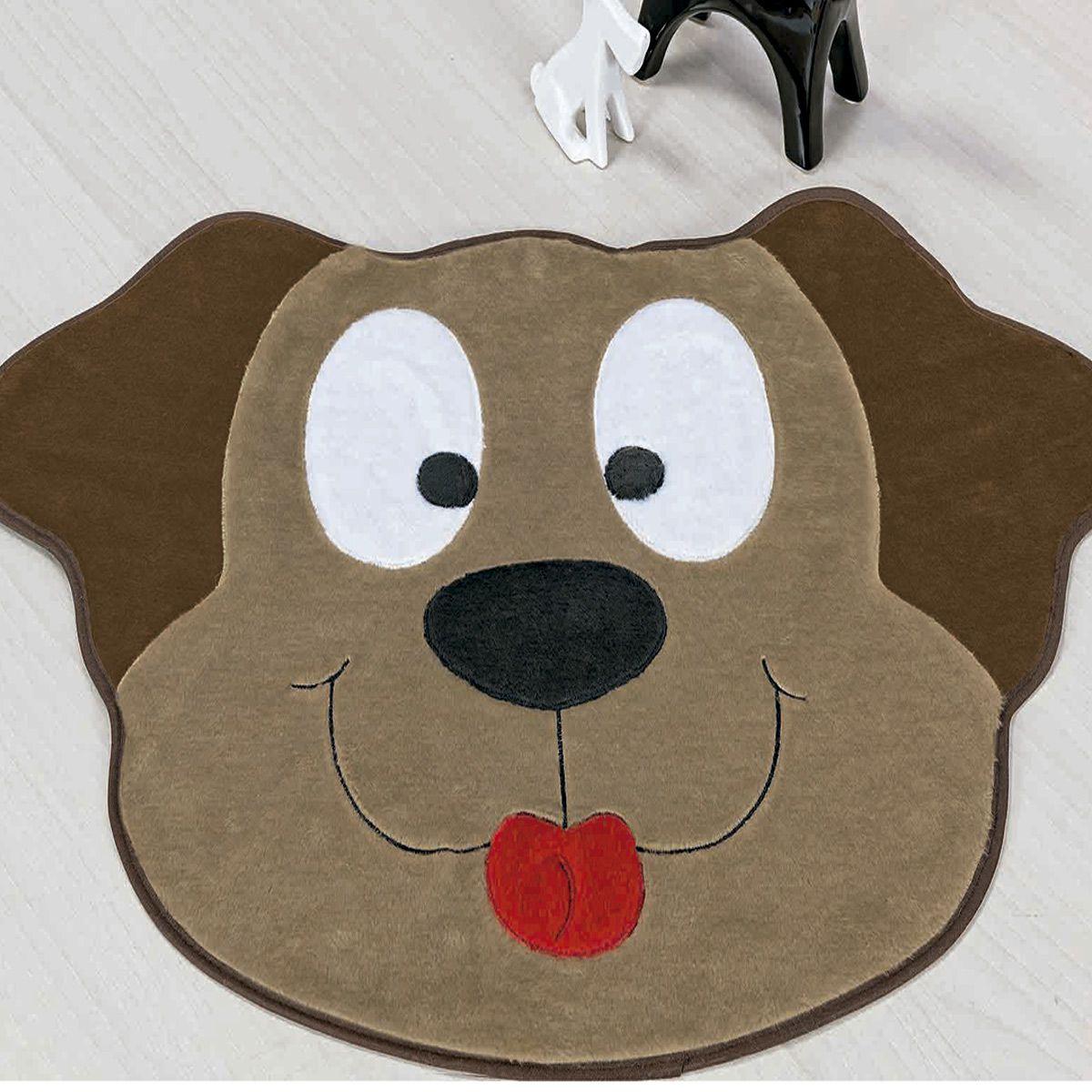 Tapete Infantil Premium Formato Cachorro Feliz Castor 78cm x 55cm