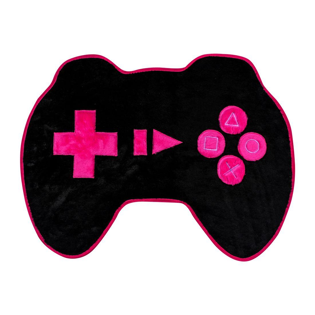 Tapete Infantil Premium Formato Controle Preto/Pink 76cm x 56cm