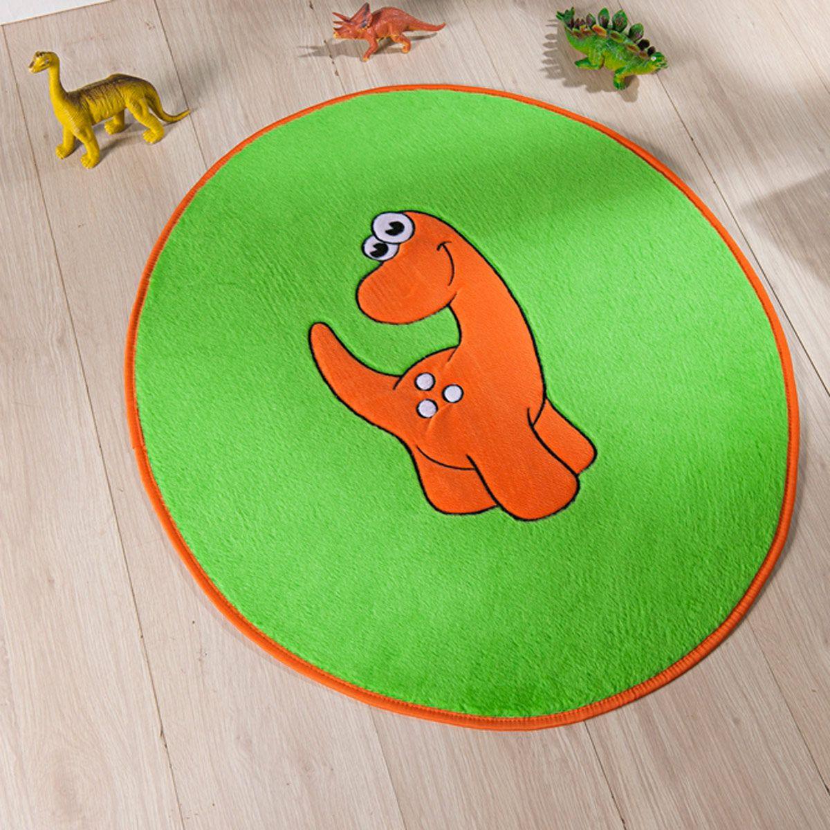 Tapete Infantil Premium Formato Dino Baby Verde Pistache 78cm x 68cm