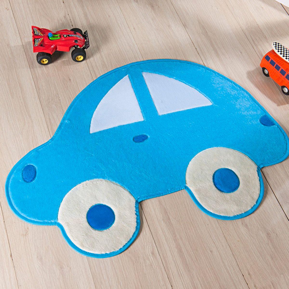 Tapete Infantil Premium Formato Fusca Azul Turquesa 95cm x 73cm