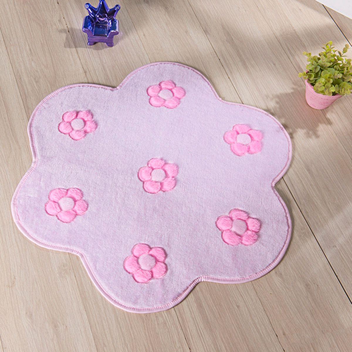 Tapete Infantil Premium Formato Jardim Rosa 70cm x 70cm