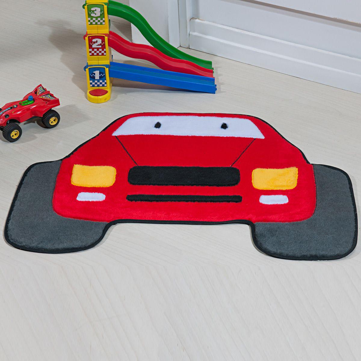Tapete Infantil Premium Formato Jipe Vermelho 82cm x 60cm