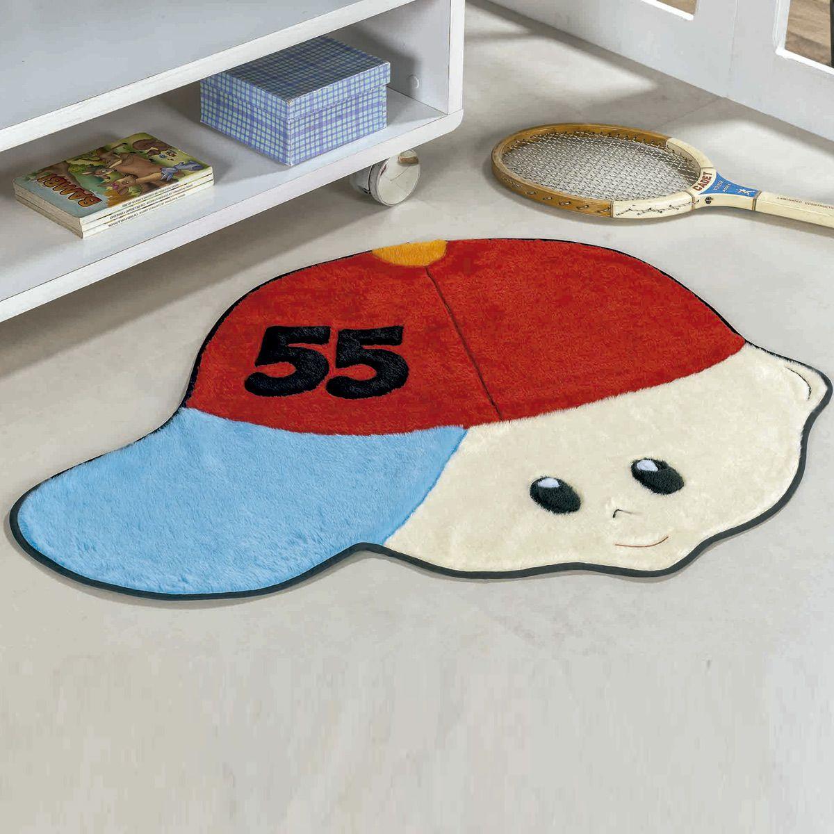 Tapete Infantil Premium Formato Menino Número Vermelho 86cm x 65cm